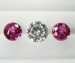 1.67ct Pink Ceylon Sapphires Natural Colour -matching Pair+certificate Included