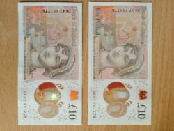 Rare Jane Austen 10andpound Note Serial Number With Year Of Birth