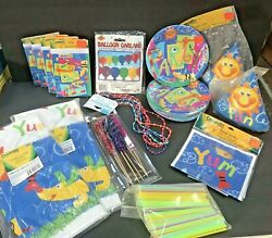 Crayola Party Lot Paper Plates Invitations Table Cloths Etc