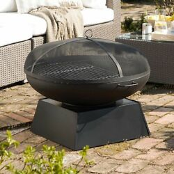 Large Steel Outdoor Charcoal Barbeque/black Metal Garden Fire Bowl Pit
