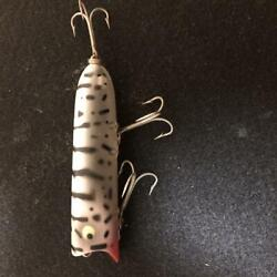 Old Heddon Lucky 13 Wcds Fishing Equipment Lure Collection Vertical Crack 049/ak