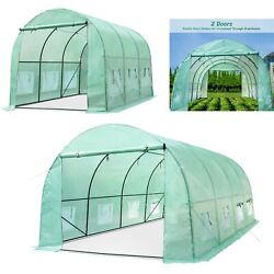 Steel Frame Greenhouse Large Portable Walk-in Hot Green House Plant Gardening Us