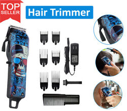Professional Cordless Hair Clipper Electric Hair Cutter Machine Kit Rechargeable