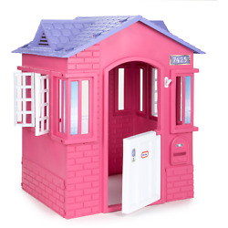 Cottage House Pink - Working Doors Window Shutters For Kids 2-8 Years Old