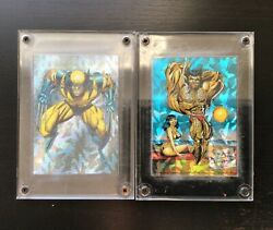 Lot Of 2 1992 Marvel Wolverine Ii From Then Til Now Prism Inserts P1 And P6