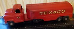 Antique Red Texaco Metal Truck And Tank Collectible Toy Buddy L