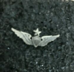Vintage O C Tanner Sterling Army Sr Aviator Wings Pin On Back Screws On No