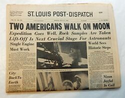Apollo 11 Moon Walk July 1969 St Louis Post Dispatch Newspaper Armstrong Aldrin