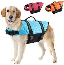Emust Dog Life Jacket Lightweight Dog Life Vests With Rescue Handle For Small M