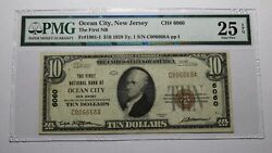 10 1929 Ocean City New Jersey Nj National Currency Bank Note Bill Ch 6060 Vf25