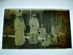 Early Glass Negative Family Picture Women With Children And Family Dog