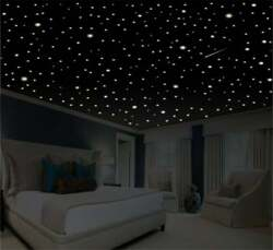 Romantic Bedroom Decor Star Wall Decal Glow In The Dark Stars Romantic Gifts