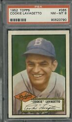 1952 Topps 365 Cookie Lavagetto Psa 8 Nm-mt