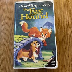 Disney's The Fox And The Hound Vhs Black Diamond Classics Clamshell Collectible