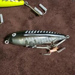 1970s Old Heddon Fishing Lure Zara Ii Xbws Black Shore Clearberry Vintage 698/mn