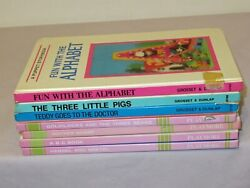 Vtg 7 Hc Board Lot Childrens Picture My Tiny 3d Book Series And Puppet Storybooks