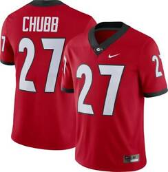 Georgia Bulldogs Nick Chubb 27 Nike Men's Red Official Ncaa Player Game Jersey