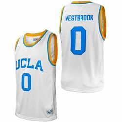 Ucla Bruins Russell Westbrook 0 Retro Brand Men's White Ncaa Player Jersey