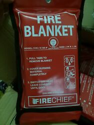 Emergency Fire Blanket 1mx1mx0.3mm Case Of 10 Pieces