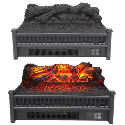 1400w 23 Electric Fireplace Log Heater Realistic Flame Hearth Insert Wood Us