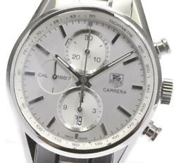 Tag Heuer Carrera Car2111-3 Cal.1887 Date Chronograph Automatic Menand039s Watch Used