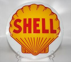 Shell 13.5 Glass Face For Gas Pump Globe