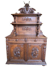 Special Antique French Hunt Server, Oak, 19th Century, Nice Carvings