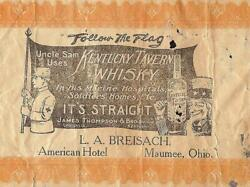 Uncle Sam Uses Kentucky Tavern Whisky In Marine Hospital Note L.a. Breisach Ohio