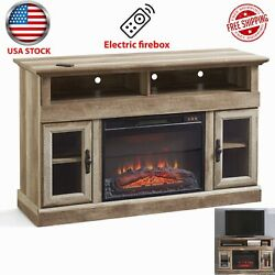 Tv Stand Crossmill Fireplace Remote Control Media Console For Up To 60tvs