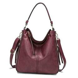 Hobo Bags for WomenDDDH Ladies Handbags Purses Crossbody Shoulder Bucket Wine $48.36