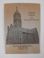 First Presbyterian Church 1938 Freehold Nj Monmouth County Local History Booklet