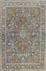 Vintage Kashmar Floral Hand-knotted Large Area Rug Dining Room Oriental 10and039x12and039