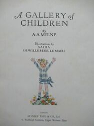 A A Milne Willebeek Le Mair / A Gallery Of Children Limited Signed Edition 1925