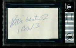 Green Bay Packers Hof Reggie White Signed Autographed Vintage Cut Beckett Bas