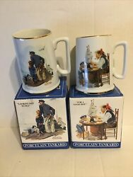 Looking Out To Sea And For A Good Boy Norman Rockwell 1985 Long John Silvers Cup