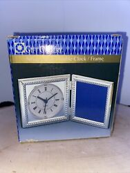 Vintage Gift Gallery Silver Plated Double Clock Frame Brand New In Box.