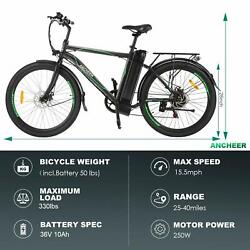 Electric Bike For Adults 26 Electric Commuting Bicycle 6-speed Gear City Ebike