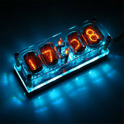 In 12 Glow Tube Clock 4-bit Integrated 7color Rgb Led Ds3231 Nixie Clock In-12 B
