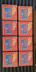 8 Vintage Outback Steakhouse Gift Card Coasters Nos