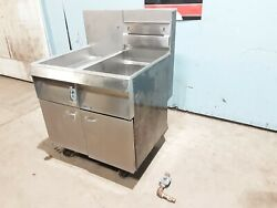 Pitco Frialator F14s-cv Heavy Duty Nat Gas Commercial Fryer And Dump Station