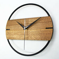 Wall Clock Simple Modern Wooden Watch for Bedroom 3D Wood Sticker Wall Clocks