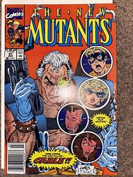 The New Mutants 87 Mar 1990, Marvel 1st App Of Cable Zoom In On Pics