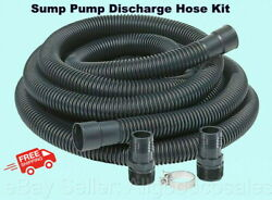 Sump Pump Discharge Hose Kit Corrugated 1-1/4 Or 1-1/2 X 24 Feet Little Giant