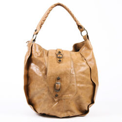 Balenciaga Shrug Hobo Bag Brown Chevre Leather $130.00