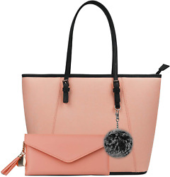 Purses and Handbags for Women Tote Shoulder Crossbody Bags with Matching Wallet $29.37