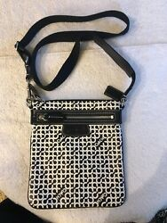 Coach 42206 Crossbody Bag Black and white $39.99