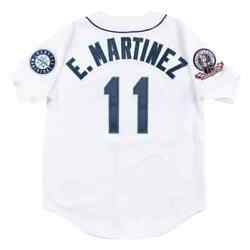 Seattle Mariners Edgar Martinez Mitchell And Ness 1995 Home Mlb Authentic Jersey