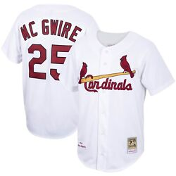 St Louis Cardinals Mark Mcgwire 25 Mitchell And Ness White 1998 Authentic Jersey