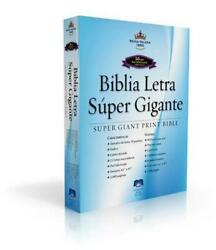 Super Giant Print Bible-rvr 1960 Spanish Bonded Leather Book Free Shipping