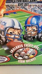 Nfl Mighty Helmet Racers R/c Football Game Gift Set 2004 Playing Field. Read